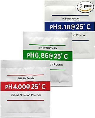 Digital Aid pH Calibration Solution Powder (4.00pH, 6.86pH, and 9.18pH). (1x3...