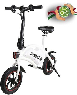 12'' Bicicletta Elettrica Pieghevole BICI E-Bike 450W 40km/h | +6 Mesi Garanzia
