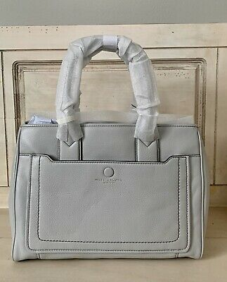 NWT MARC JACOBS Empire City Leather Tote Satchel Shoulder Bag Light Grey $445