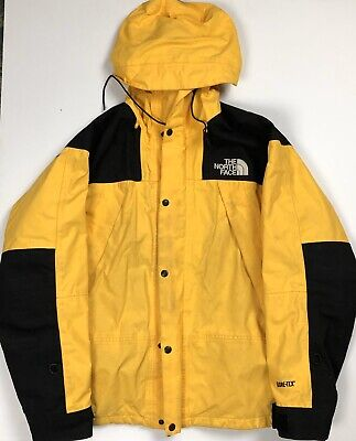 VINTAGE 90s THE NORTH FACE MOUNTAIN JACKET YELLOW USA LARGE TNF GORETEX