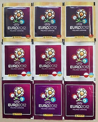 9 SOBRES NUEVOS EURO 2.012 DE PANINI SIN ABRIR. 3 MODELOS DIFERENTES.