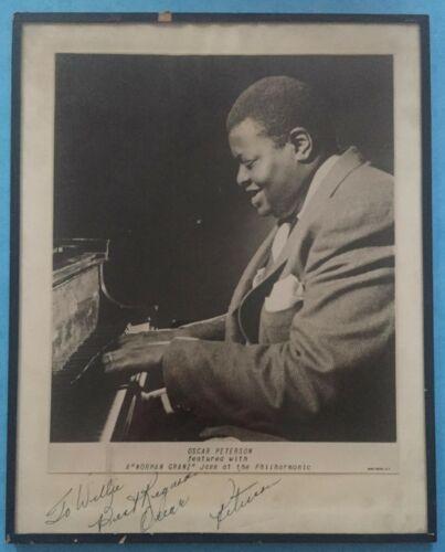 Jazz ca.1950 Oscar Peterson 2 x (!!!) Signed / Autographed Photo - GENUINE