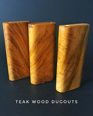 "4"" Teak Wood Dugout with 3"" One Hitter Bat-Perfect Gift"