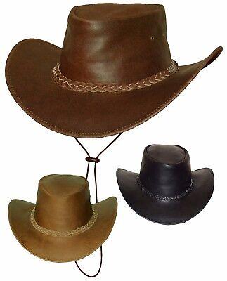 Hut Australien (Black Jungle Australien Style Sonnenschutz Leicht Lederhut Hut Hüte S M L XL XXL)