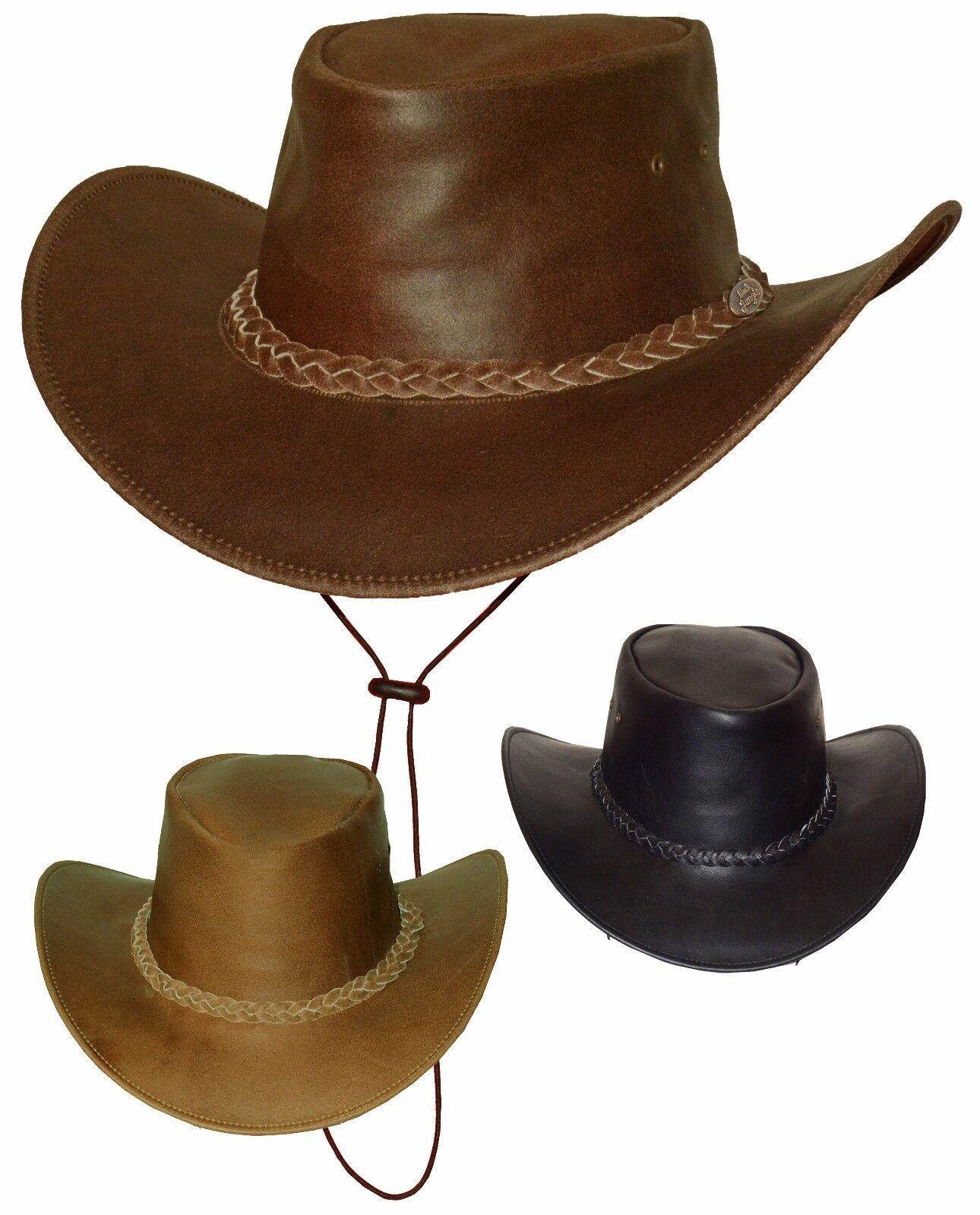 Black Jungle BROOME Australien Western Style Sonnenschutz  Lederhut Hut Hüte
