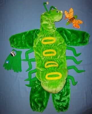 Caterpillar plush Costume childs 3-5-bug-grasshopper Full Body-Beanie-HALLOWEEN