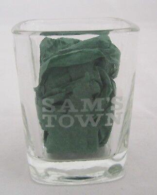 Square SAMS TOWN CASINO HOTEL Las Vegas 1.5 oz Shot glass Collectible etched (Square Town Las Vegas)