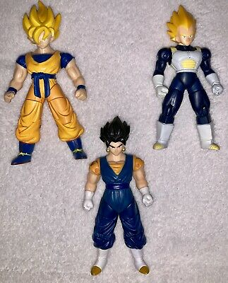 Dragon Ball Z Ultimate Collection Action Figure Lot Goku Vegeta Vegeto 4in 2008  Dragon Ball Z-ultimate Collection