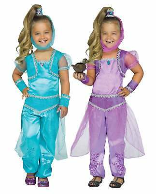 Girl's Glimmer Genie Halloween Costume Shimmer Shine Blue Purple 3T-4T 4-6
