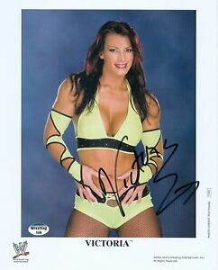 VICTORIA WWE TNA SIGNED AUTOGRAPH 8X10 PROMO PHOTO W/ COA