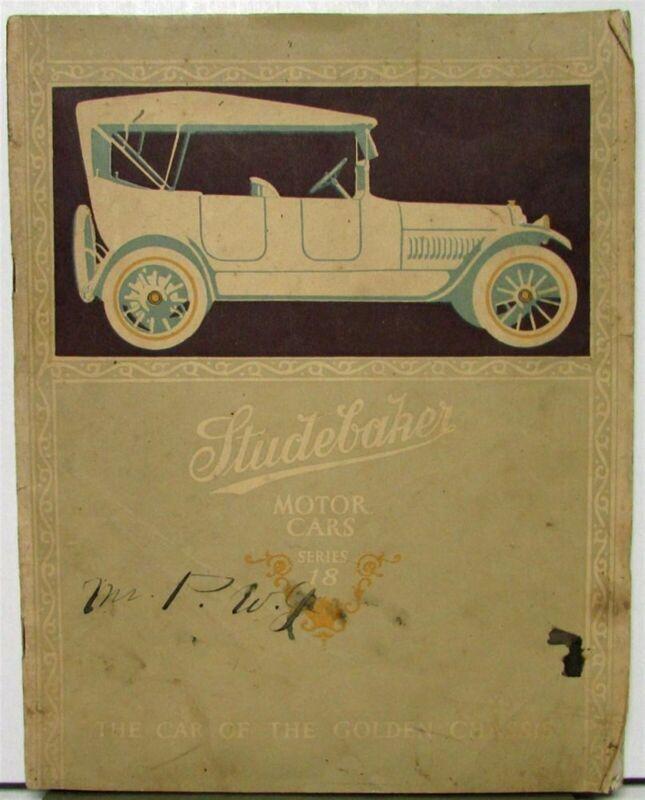 1917 Studebaker Series 18 Orig Sale Brochure Catalog Four Six Touring Roadster