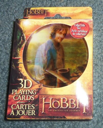 The Hobbit 3D Lenticular Playing Cards in Collectable Tin NEW