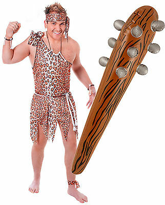 n Mens Fancy Dress Costume Outfit + Inflatable Blow Up Club (Tarzan Outfit)
