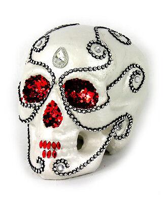Day Of The Dead Decor (Sugar Skull Halloween Day of the Dead Halloween Decoration Red Sequin)