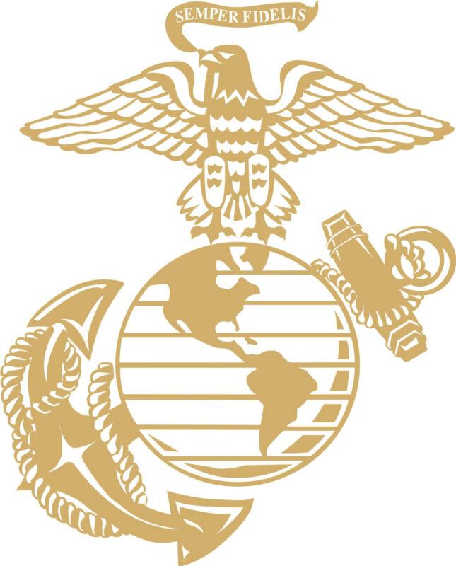 "12"" Marine Corps Eagle Globe & Anchor USMC  Graphic decal sticker truck harley"