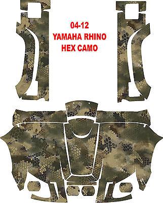 Yamaha Rhino 04-12 side by side 450 660 700 HEX CAMO Wrap Decal Sticker kit