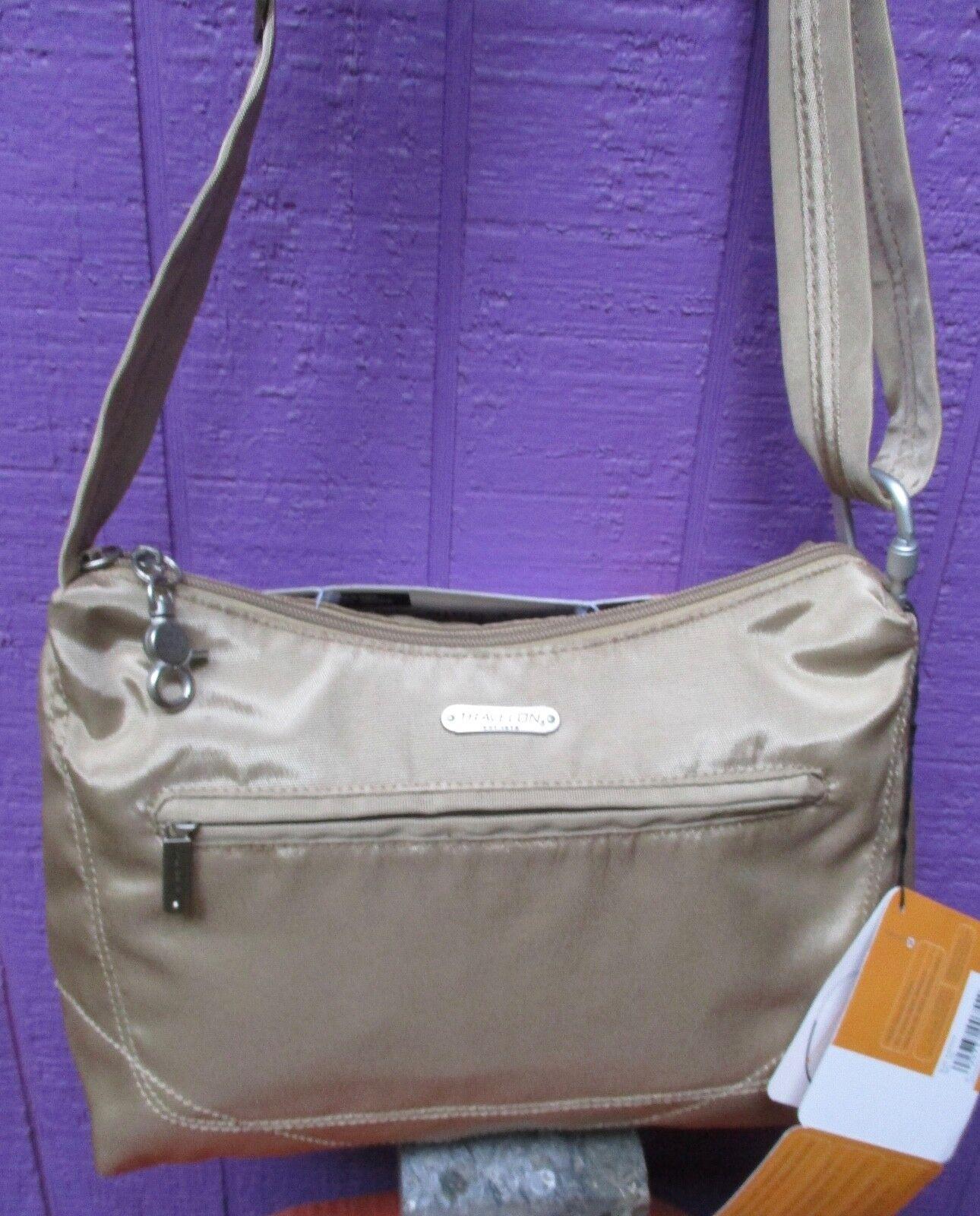 anti theft classic hobo bag tan new