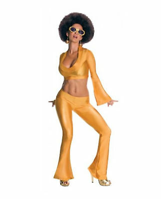 Women's Gold Costume Jumpsuit 70's Foxxy Cleopatra Groovy Disco Medium Large](70s Costume For Women)