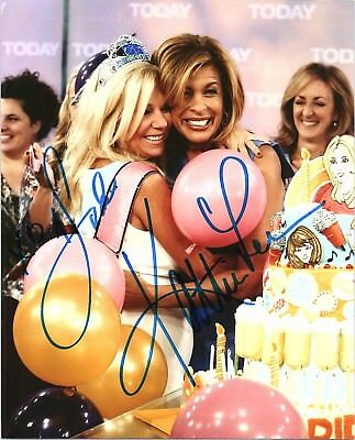 Kathie Lee Gifford   Hoda Kotb Dual Signed Autographed Today Show 8X10 Photo F