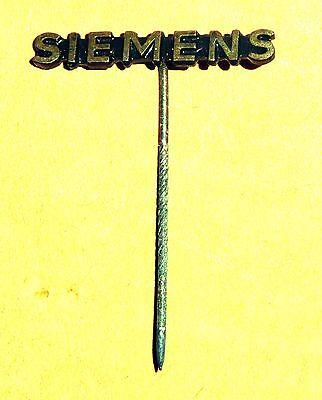 Uralte Anstecknadel  SIEMENS Vintage Pin