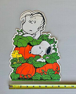 Vintage Snoopy Great Pumpkin Halloween Die Cut Peanuts Paper Cutout