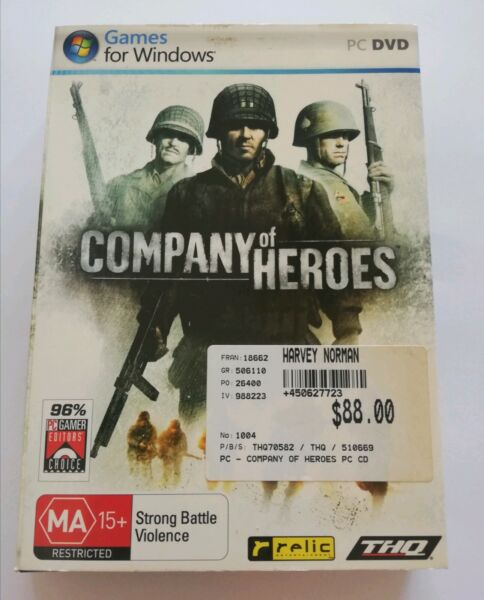 Company Of Heroes Pc Dvd Game Other Video Games Consoles Gumtree Australia Armadale Area Kelmscott 1245260920