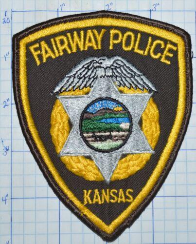 KANSAS, FAIRWAY POLICE DEPT BROWN EDGE PATCH