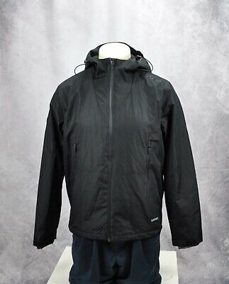 Superdry Mens Elite Windcheater Zipped Pockets Hooded Jacket Black Size XL