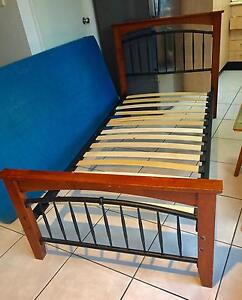 2 Single Bed Frame with Mattresses $125 Marsden Logan Area Preview