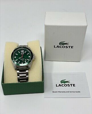 Authentic Lacoste Men's Women's Stainless Steel Green Face and Bezel Wrist Watch