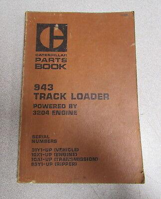 Caterpillar Cat 943 Track Loader Parts Manual 1980 31y1 10x1 1da 63y1