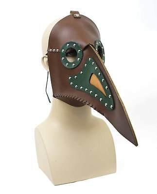 Steampunk Bird Costume Mask Medieval Plague Doctor Beak Wasteland Mad Max