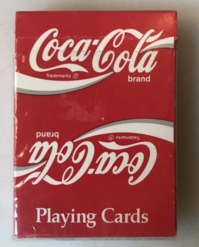 Vintage 1992  Coca Cola Plastic Coated Playing Cards Complete Deck Jokers Coke