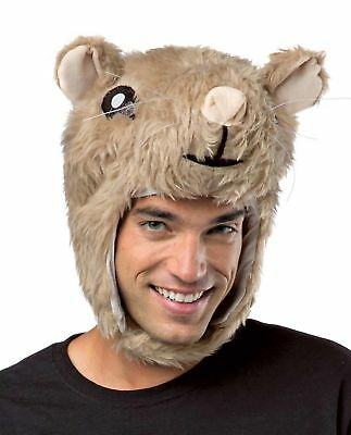 Hamster Head Laplander Costume Hat Cute Funny Fuzzy Novelty Men Women Teens (Hamster Costume Head)
