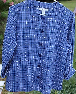 Women S Blue Print Shirt By Haymaker  Size   Ps