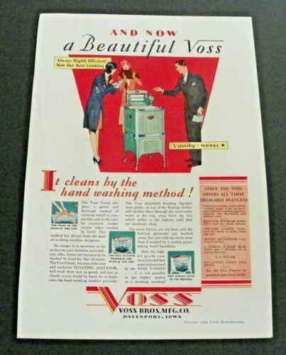 1929 Voss Vanity Washing Machine Ad Mariposa Wool Blankets Ad