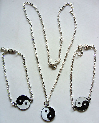 Chinese Feng Shui Ying Yin Yang Charm Pendant Surf Jewellery with Silver Chain