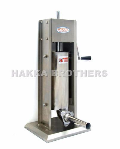 Hakka Brothers 11LB Sausage Stuffer Vertical Stainless Steel Sausage Maker SV-5