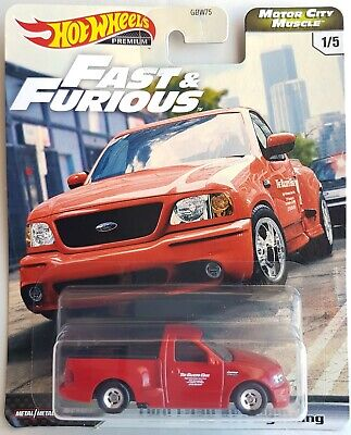 Hot Wheels 2020 Fast & Furious Motor City Muscle Ford F-150 SVT Lightning Red RR
