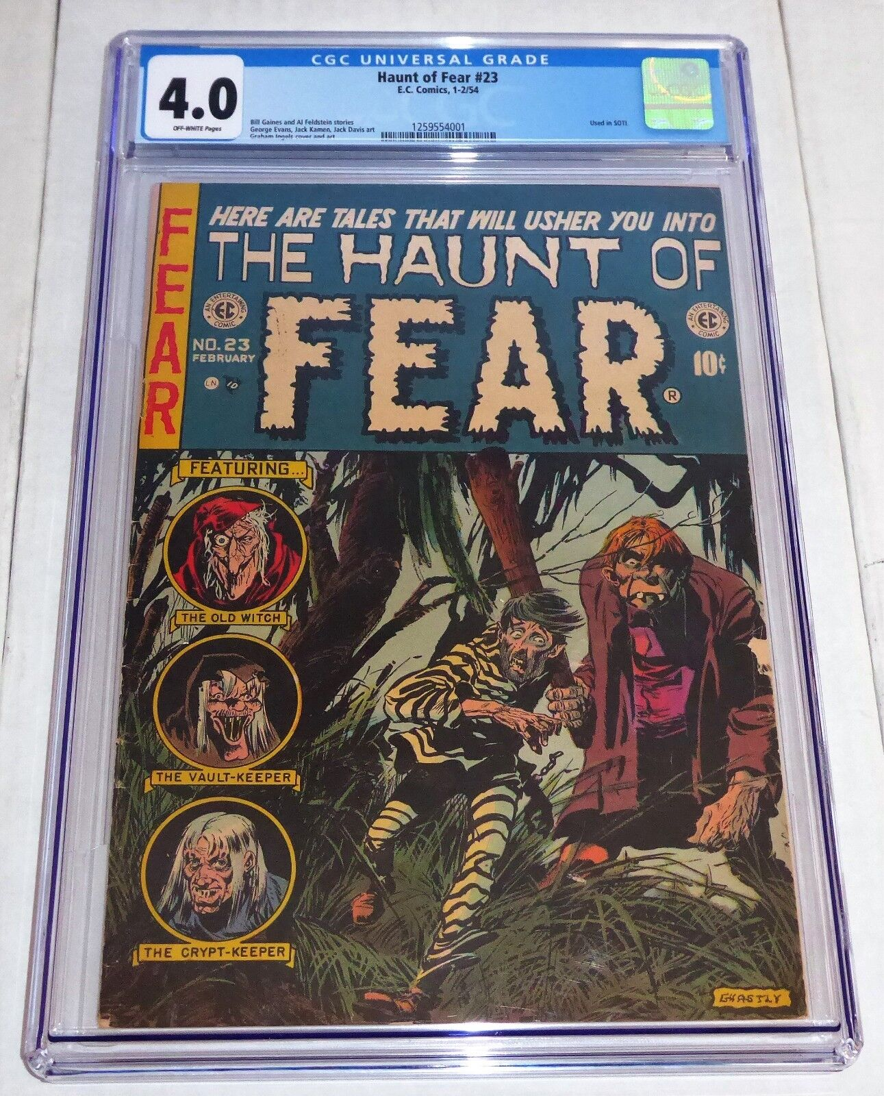 Haunt of Fear #23 E.C. EC Comics 1-2/54 CGC 4.0 Old Witch Vault Keeper Used SOTI