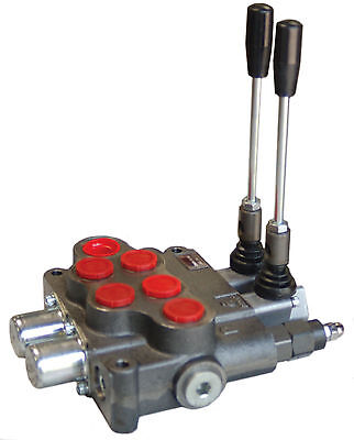 Hydraulic Directional Valve Tandem Center 2 Spool 21 Gpm New