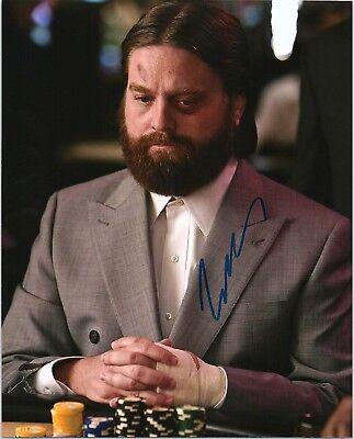 Zach Galifianakis Signed Autographed The Hangover 8X10 E