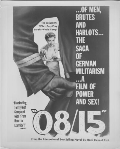 08/15/NAZIS b/w 1954 original movie lobby still photo JOACHIM FUCHSBERGER