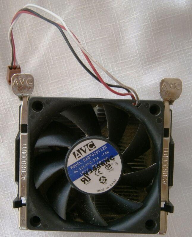 AVC DA07020T12H 3 Wire Cooling Fan W/HeatSink TESTED & WORKS PROPERLY  COMPAQ