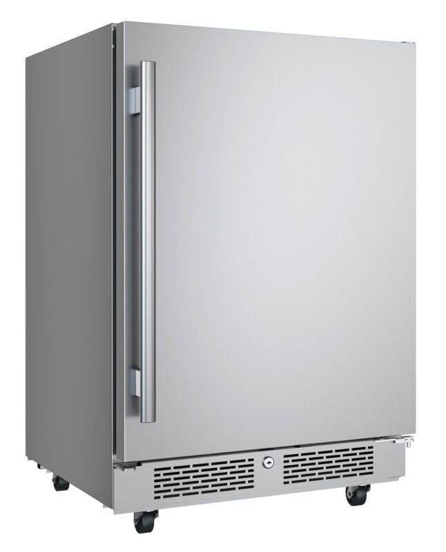 """Avallon AFR242ODRH 24""""W 5.66 Cu. Ft. Built-In Compact Outdoor - Stainless Steel"""