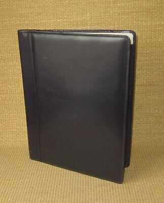 Monarchfolio Shapiro Black Genuine Leather Notepad Padfolio Cover