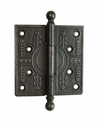 Cast Iron Aesthetic 4 x 4 Ball Tip Butt Antique Door Hinge