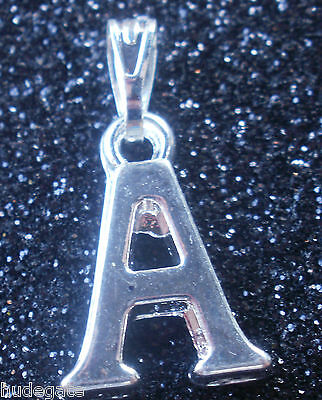 Jewellery - 1 Silver Plated Alphabet Initial Letter Pendant Charm Wholesale Jewellery Making