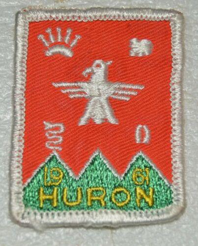 "HURON ""HURON 1961"" Edge Boy Scout Uniform Badge Canadian (QCH1B)"