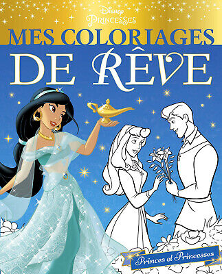 Disney Princesses Adult Colouring Book French Characters Cinderella